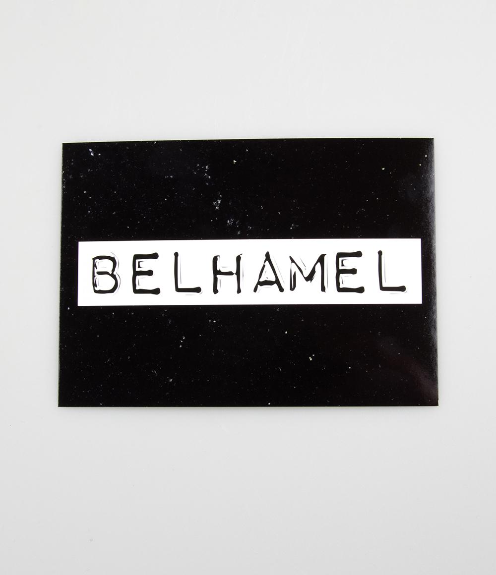 """Wenskaart Black&White """"Belhamel"""""""