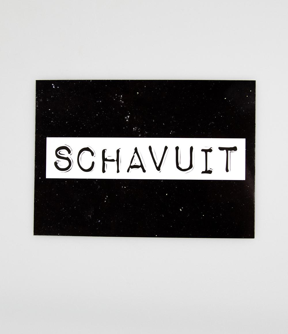 """Wenskaart Black&White """"Schavuit"""""""