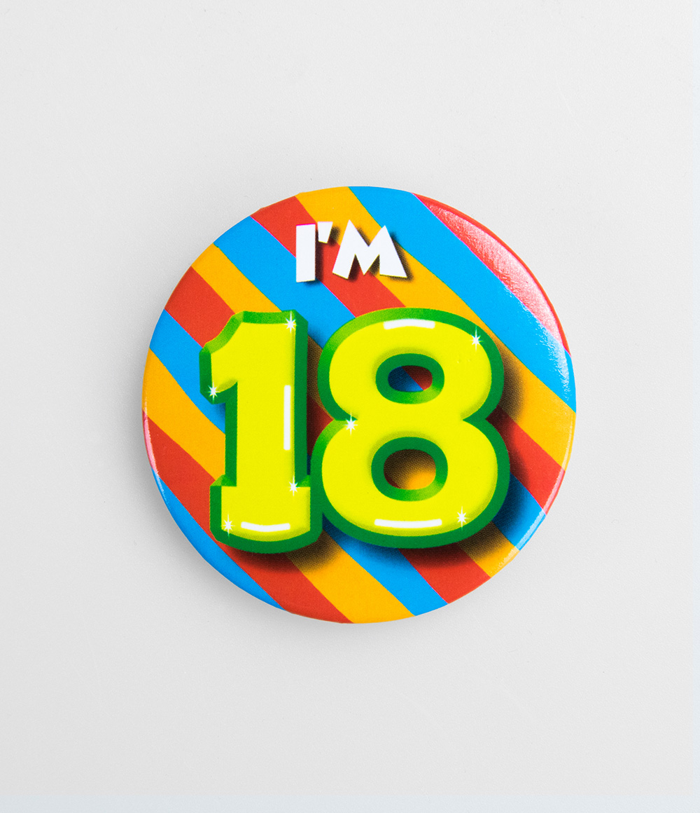Button I'm 18