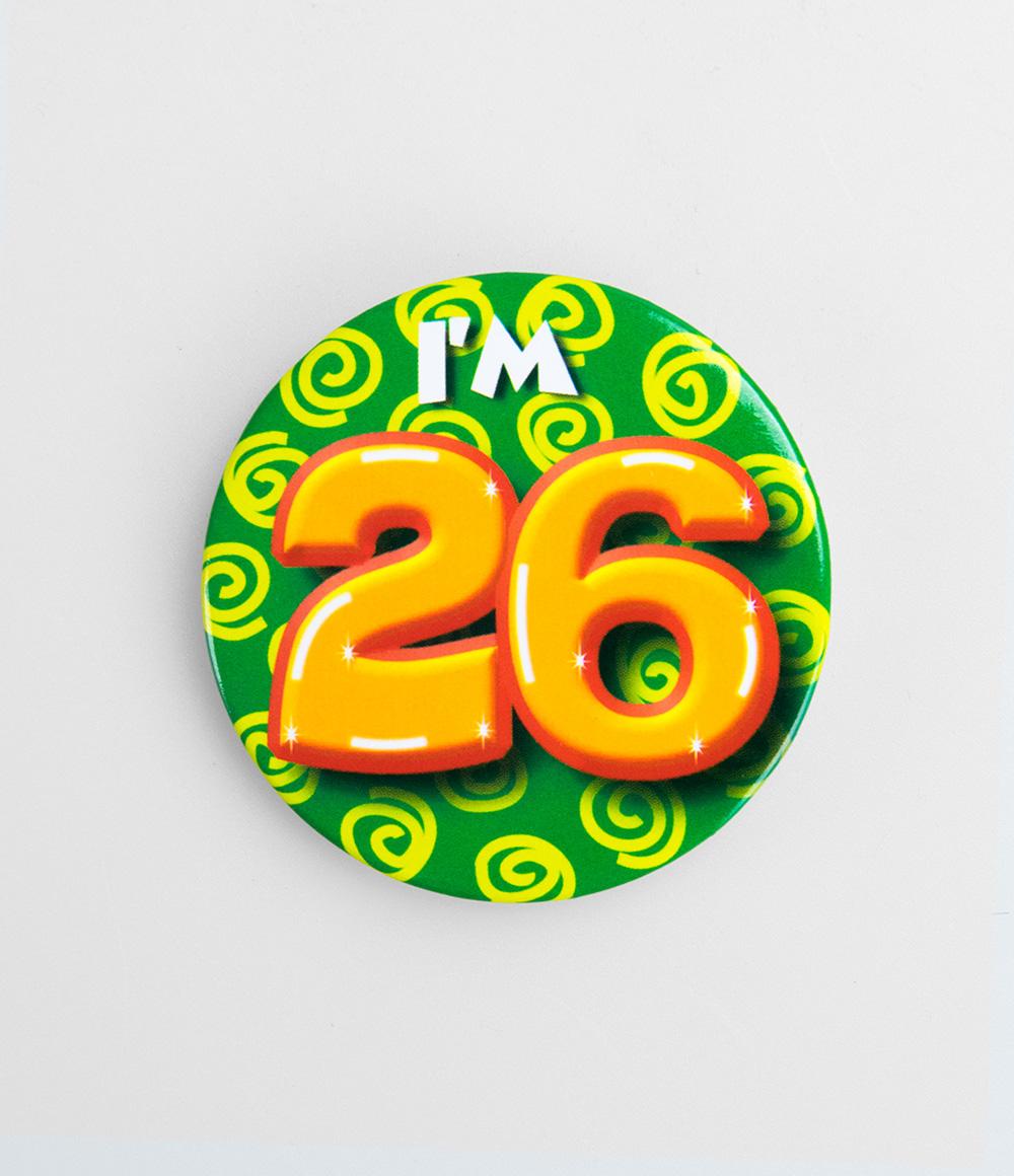 Button I'm 26