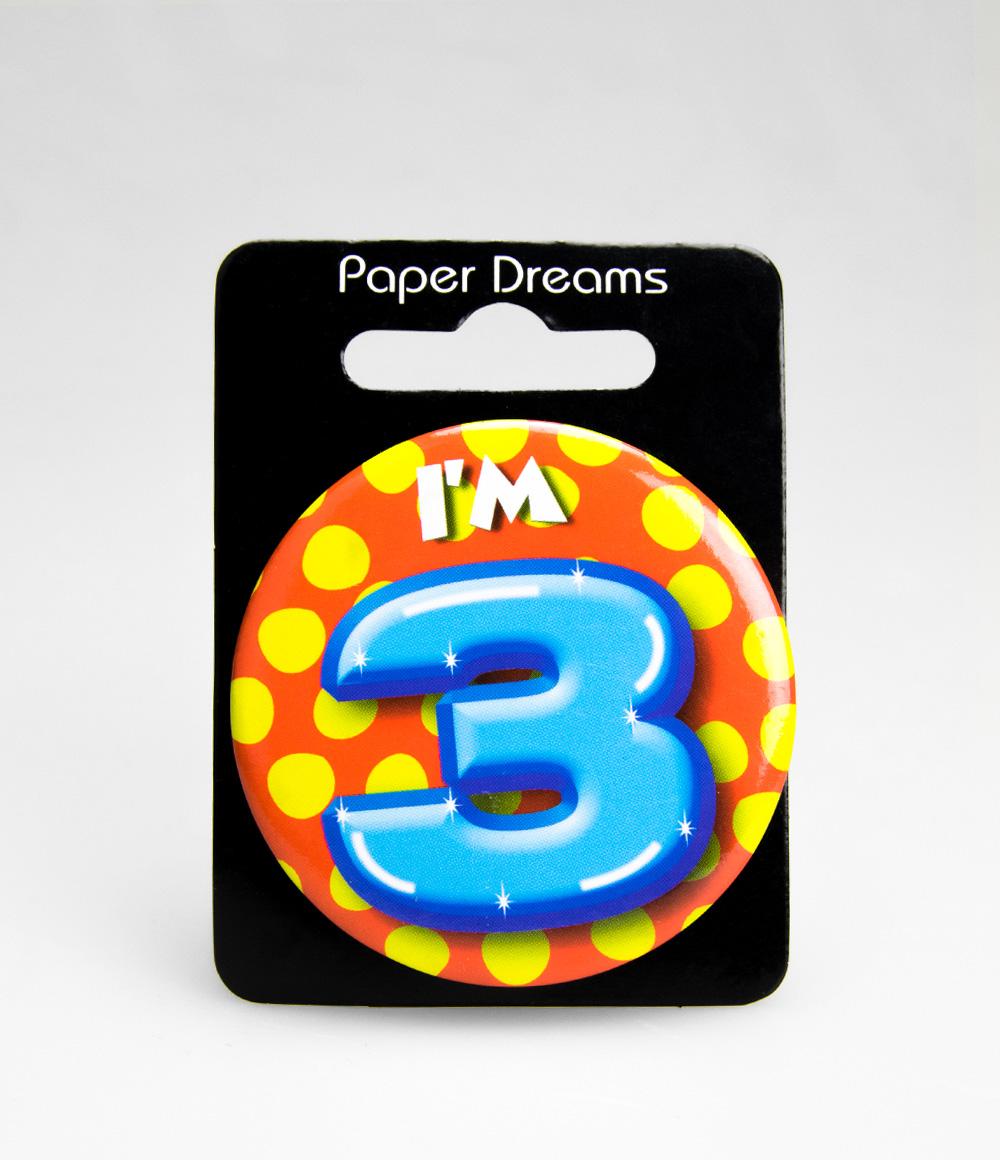 Button I'm 3