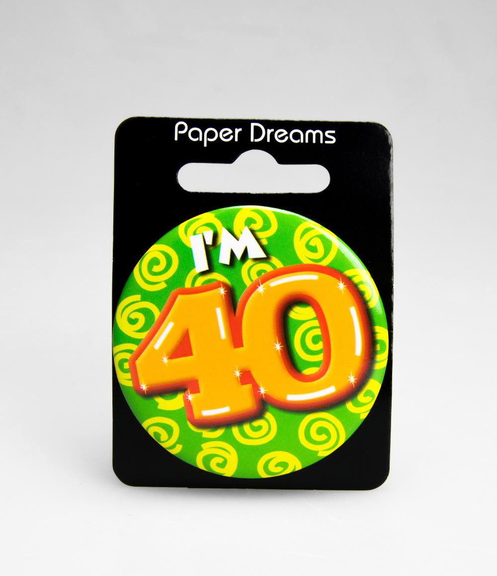 Button I'm 40