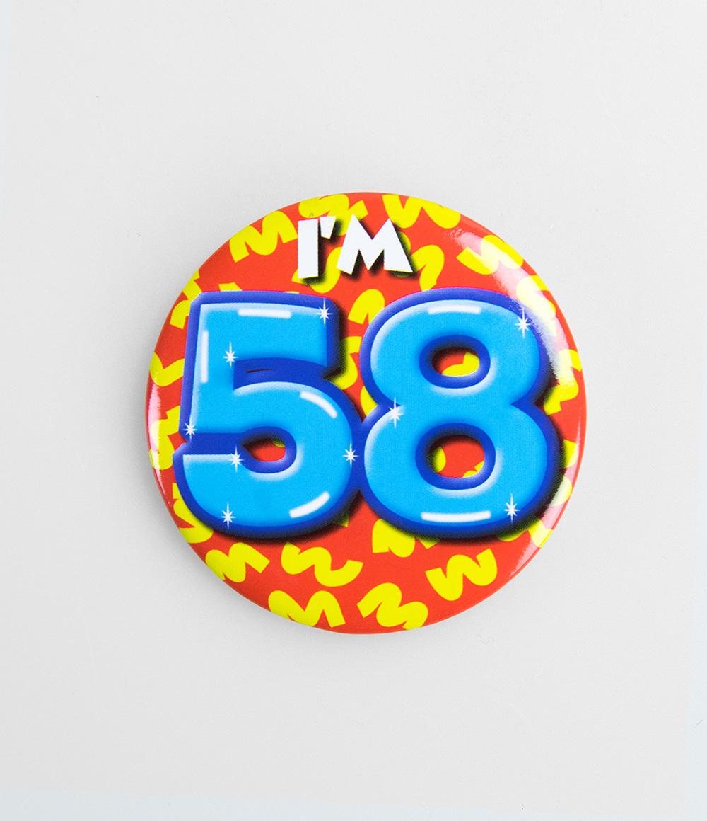 Button I'm 58