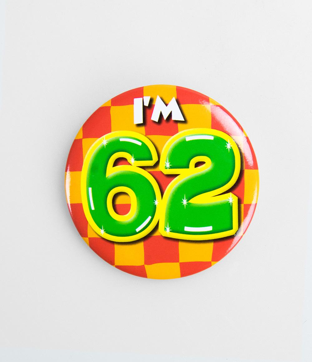 Button I'm 62