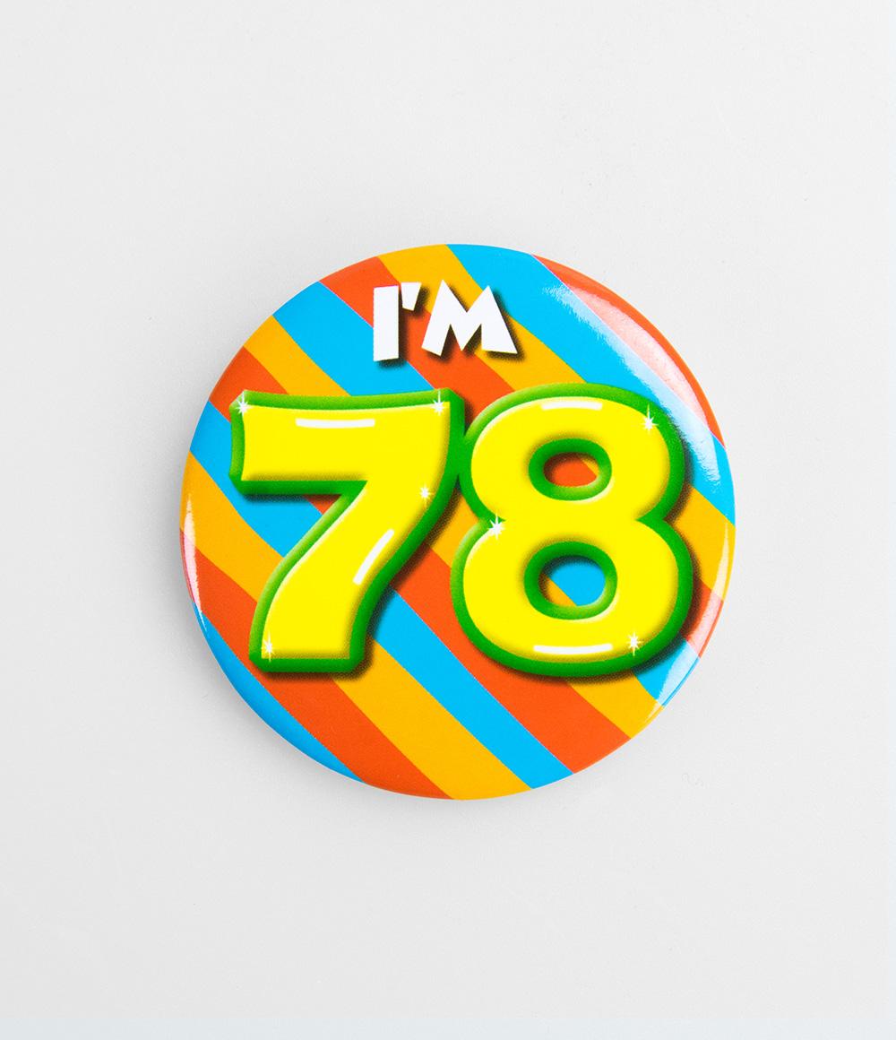 Button I'm 78