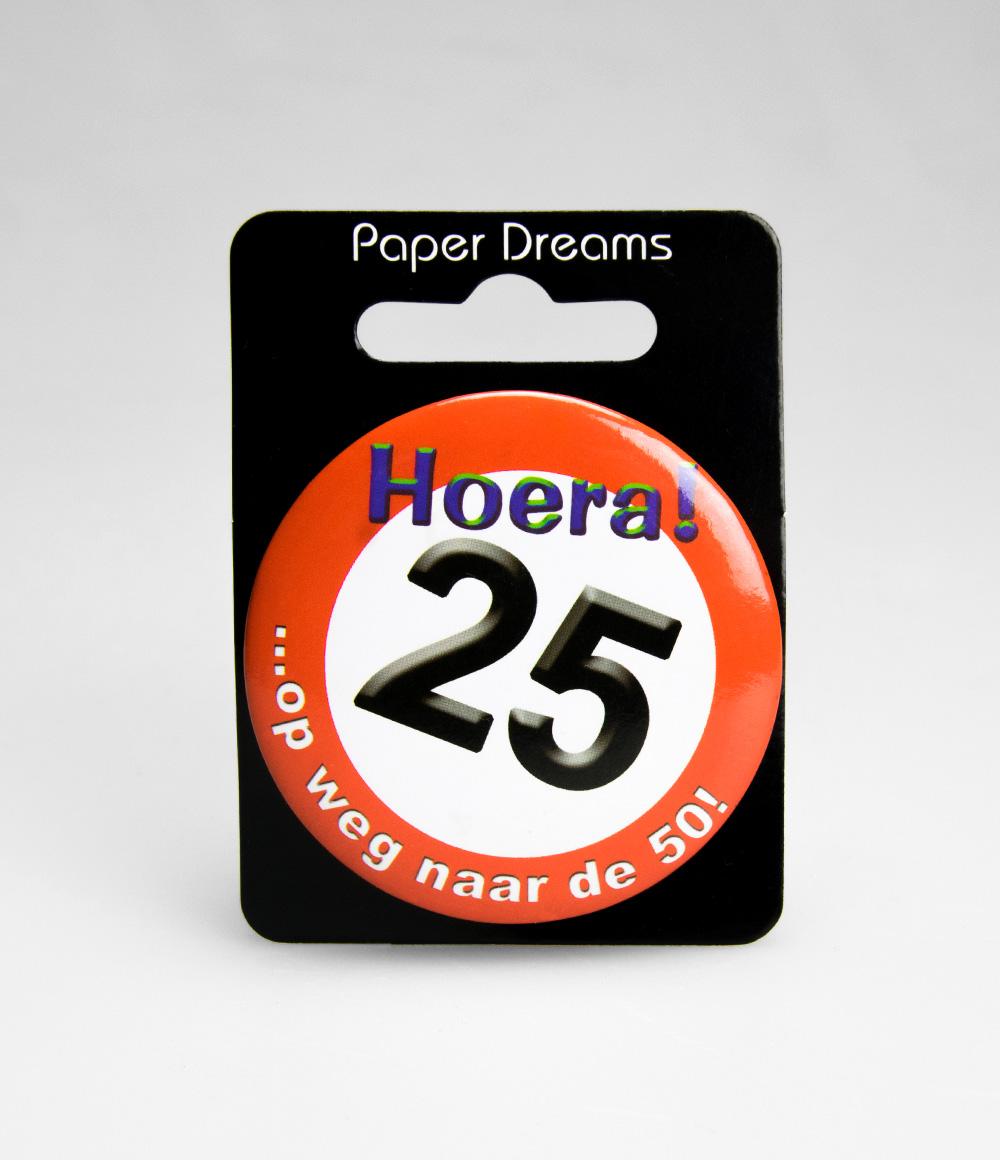 Button Verkeersbord 25 jaar