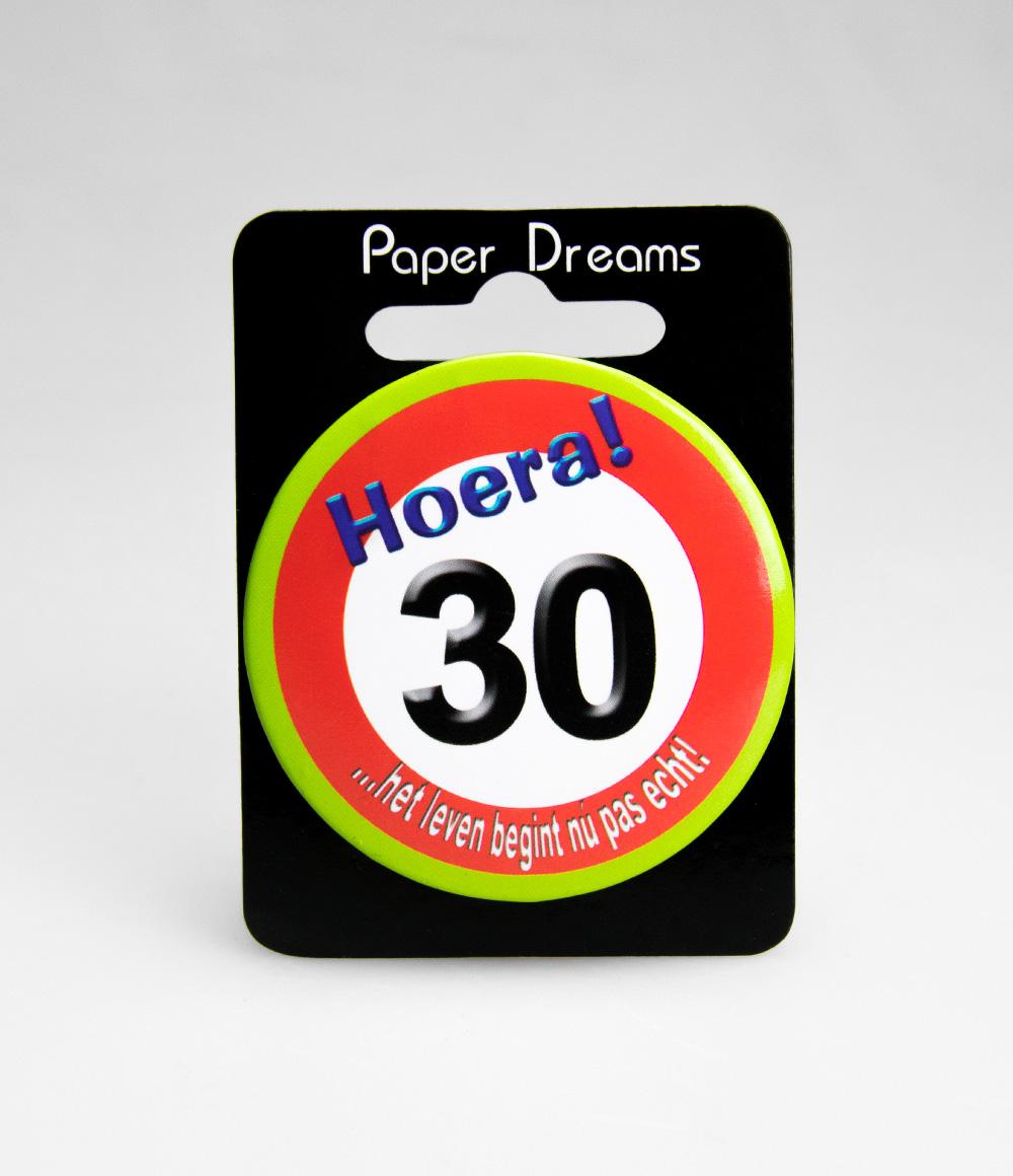 Button Verkeersbord 30 jaar