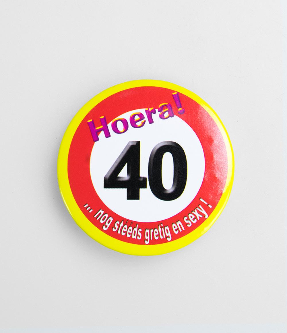 Button Verkeersbord 40 jaar