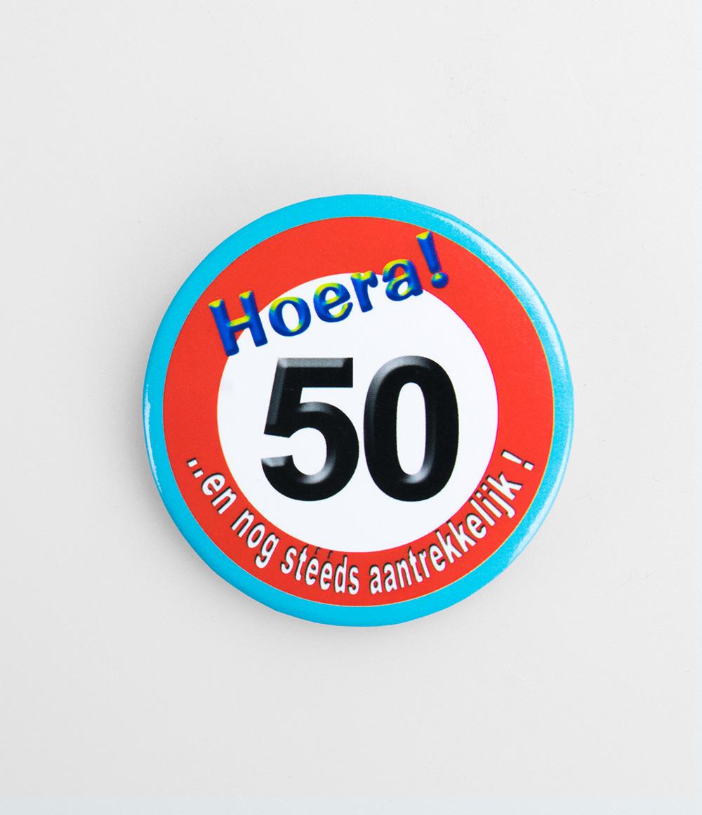 Button Verkeersbord 50 jaar