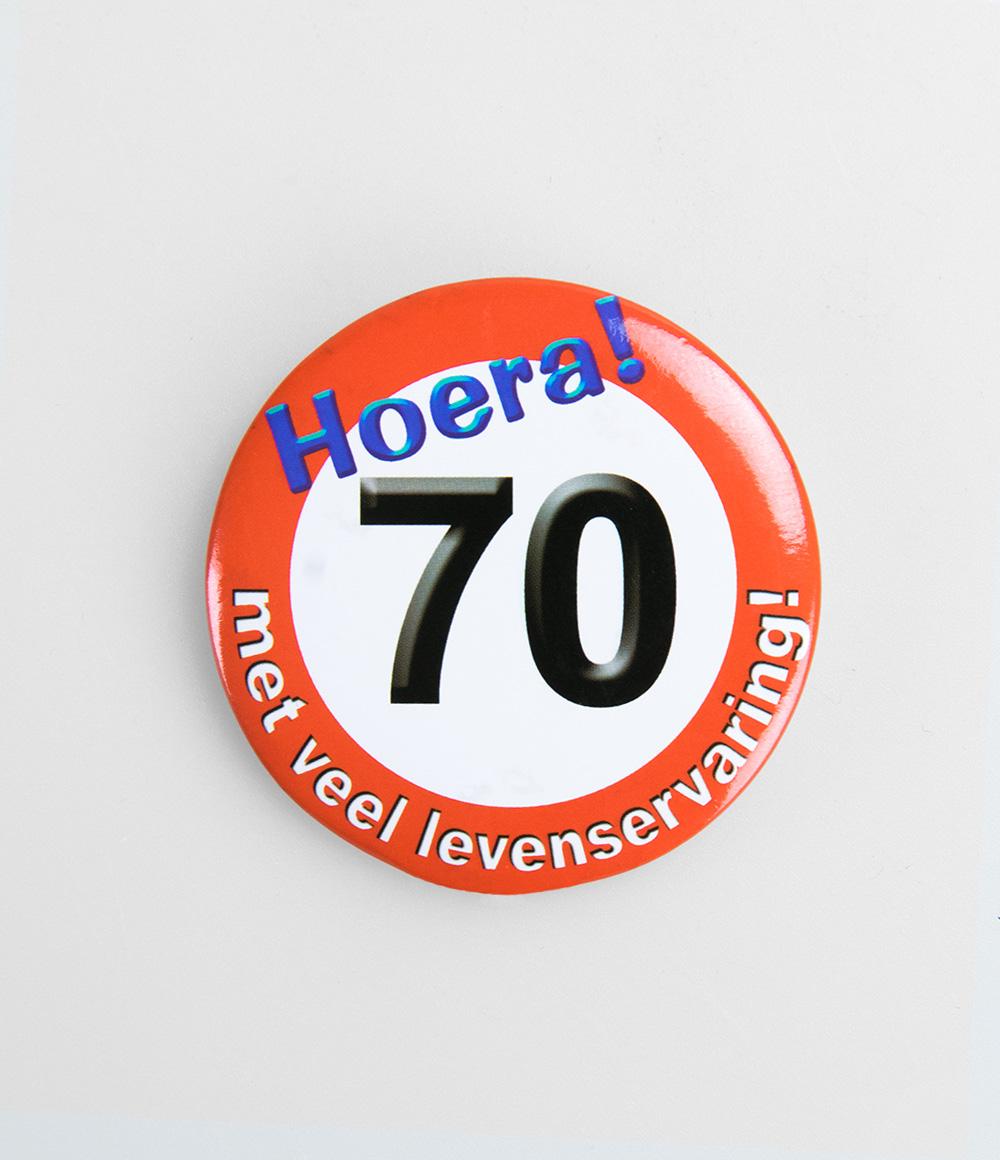 Button Verkeersbord 70 jaar