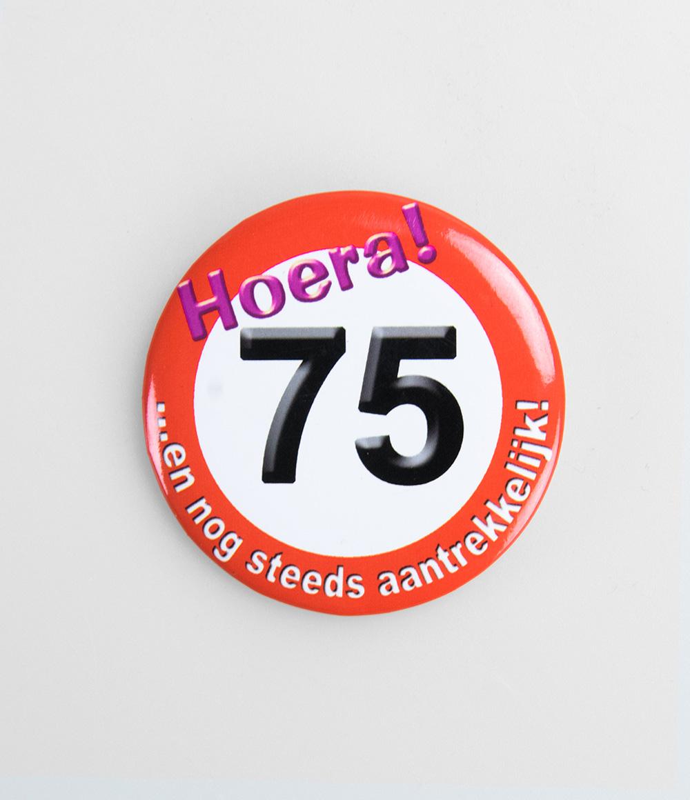 Button Verkeersbord 75 jaar