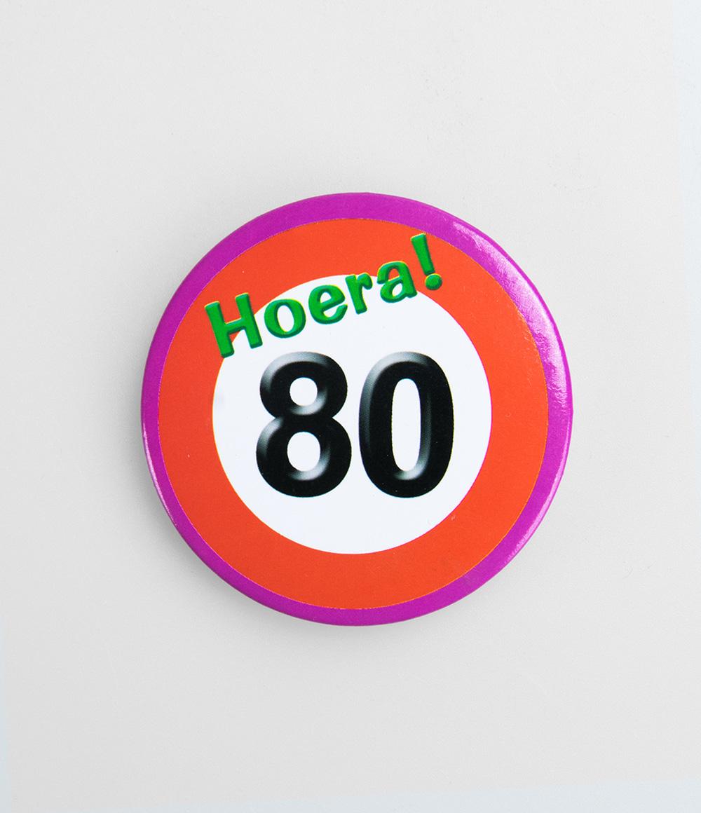 Button Verkeersbord 80 jaar