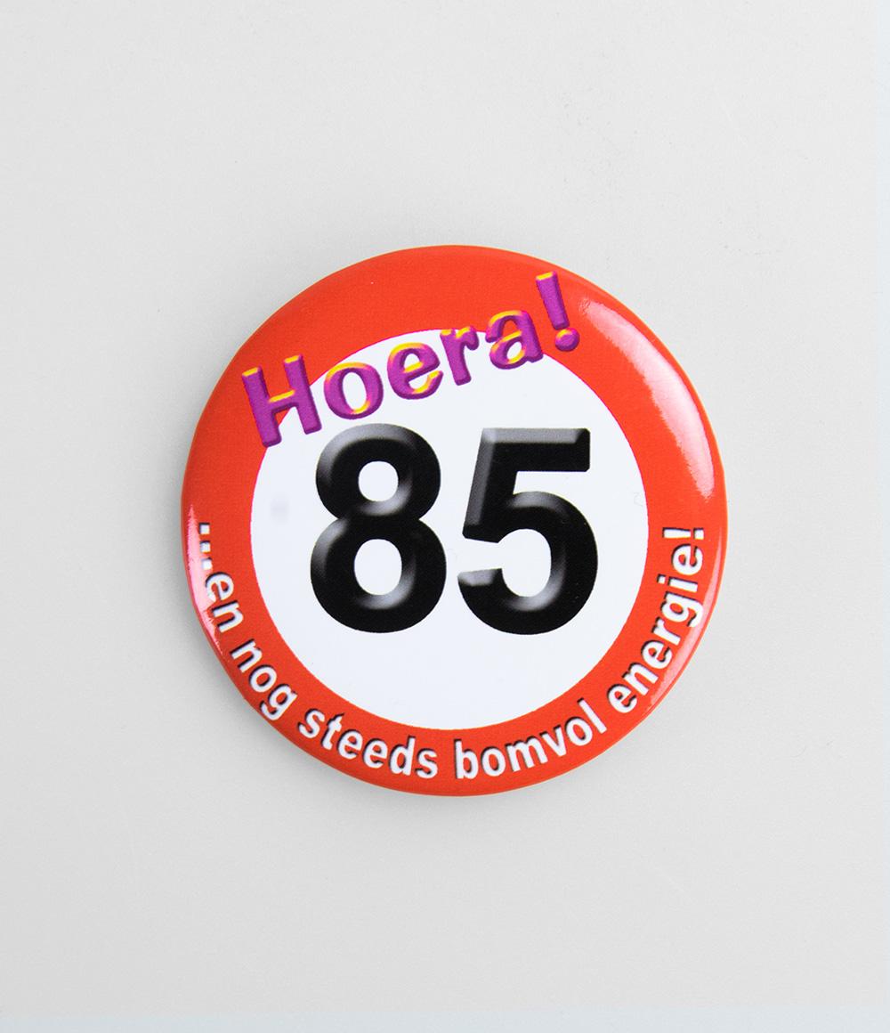 Button Verkeersbord 85 jaar