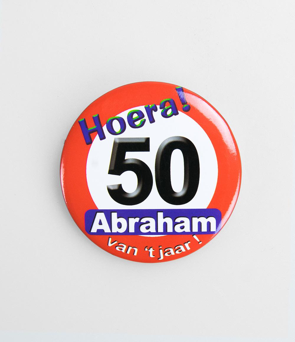 Button Verkeersbord Abraham