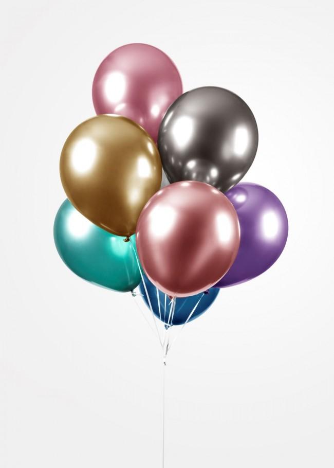 """5st Chrome Ballonnen Assorti 12"""""""