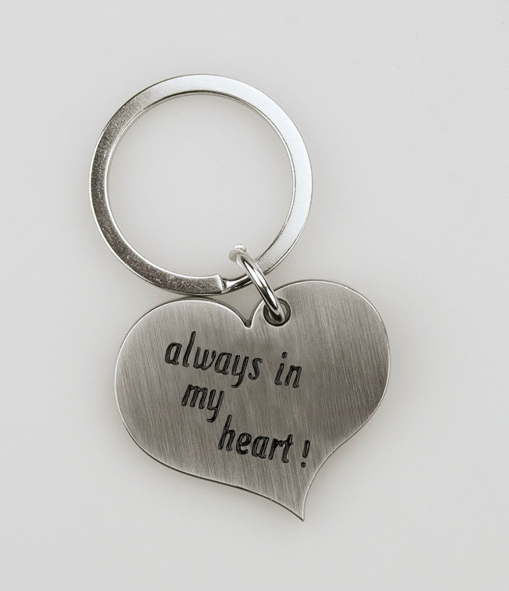 Hart Sleutelhanger Always in my heart