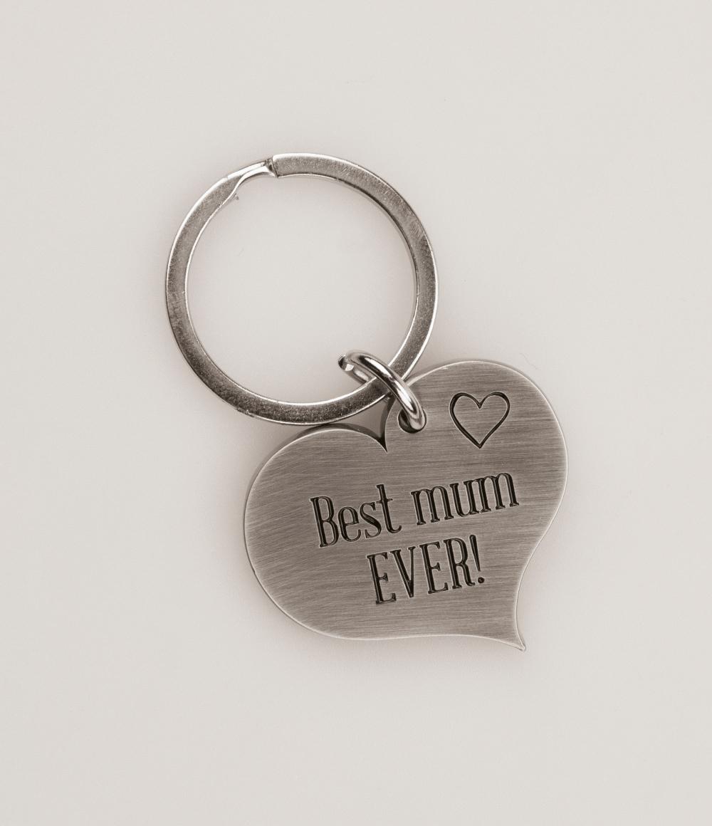 Hart Sleutelhanger Best mum ever!