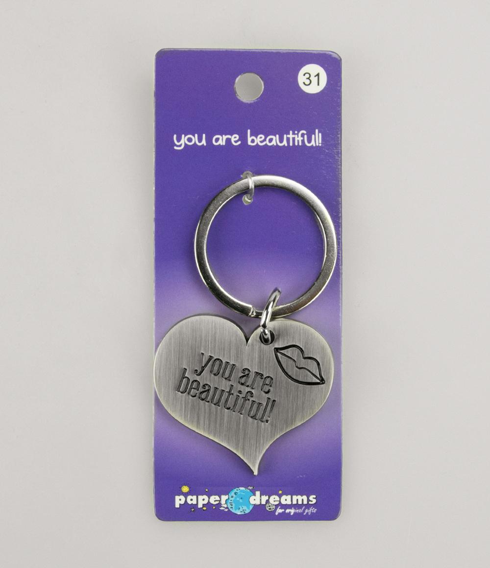 Hart Sleutelhanger You Are Beautiful