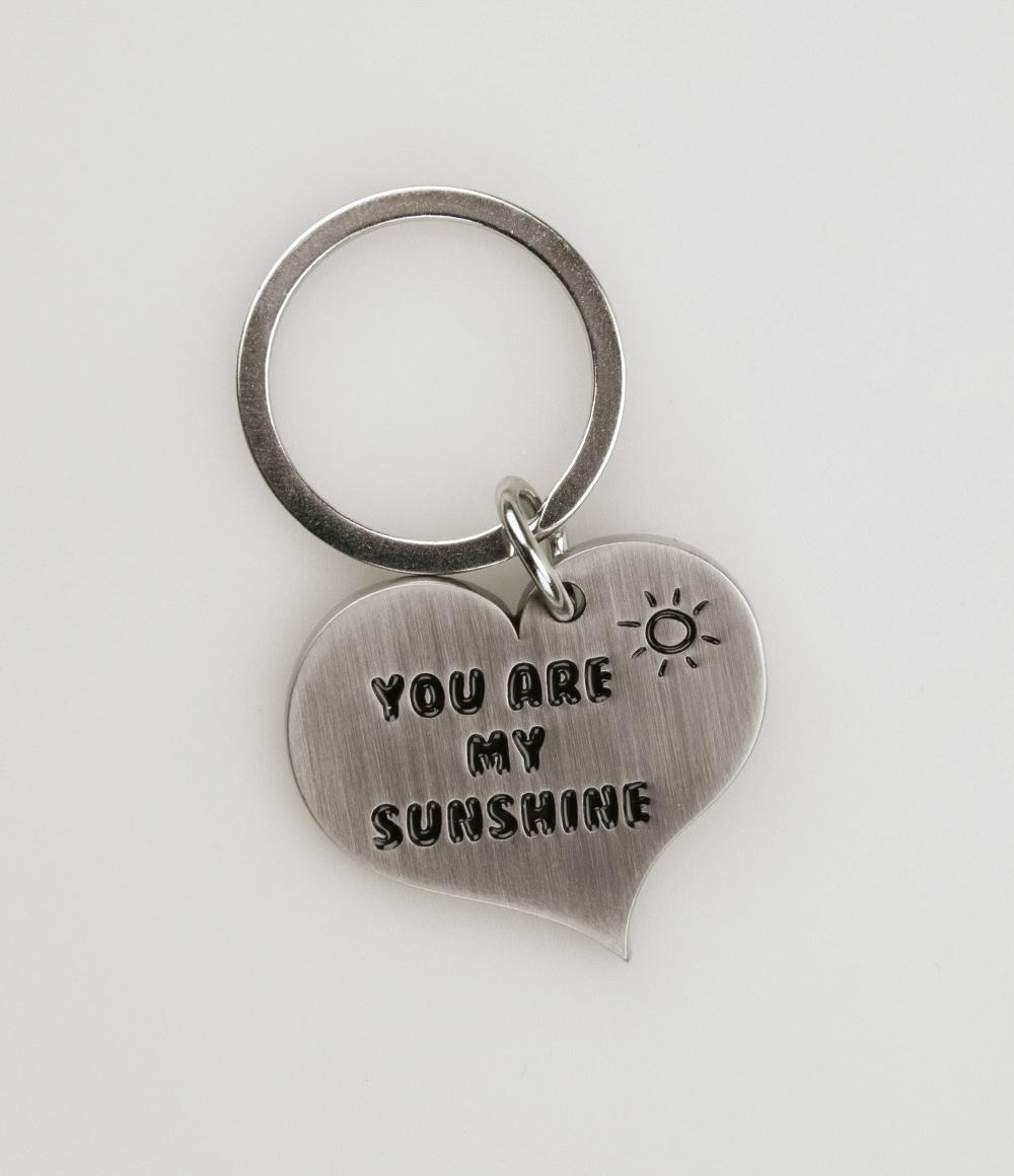 Hart Sleutelhanger You are my Sunshine