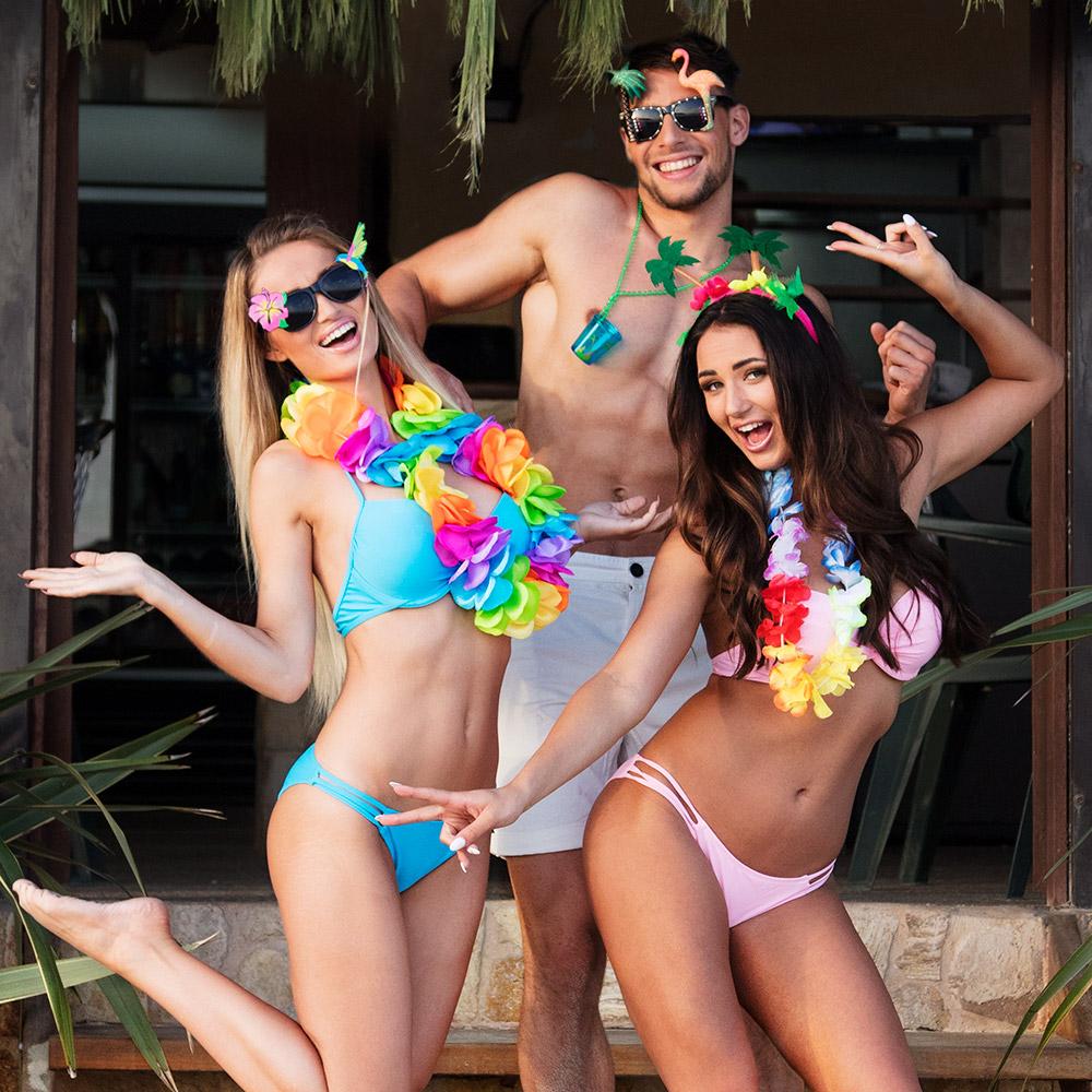 Hawai Bloemenkrans Fel Multicolor