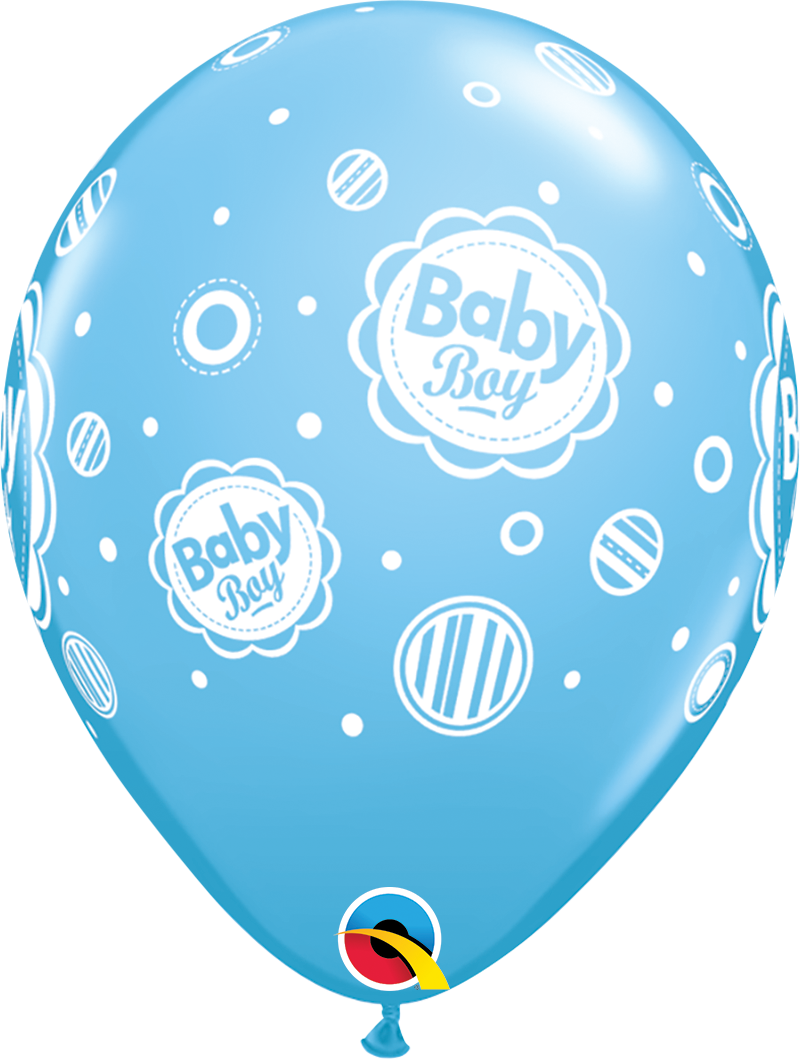 """5st Helium Ballonnen Baby Boy Stippen 11"""""""