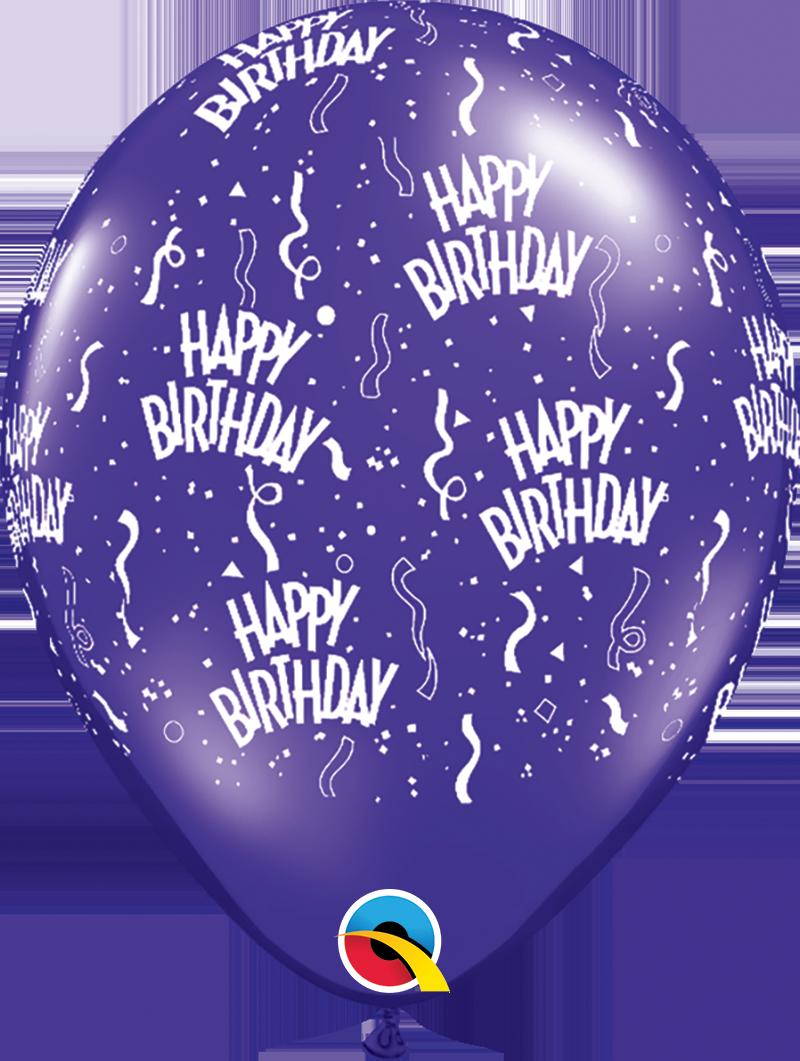 "5st Helium Ballonnen H.Birthday 11"""