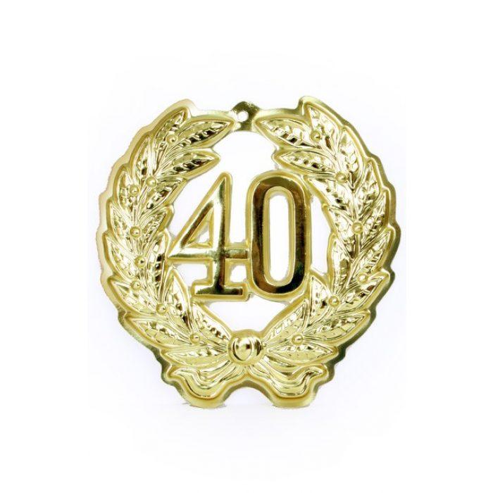 Jubileum Krans '40' Goud 24cm