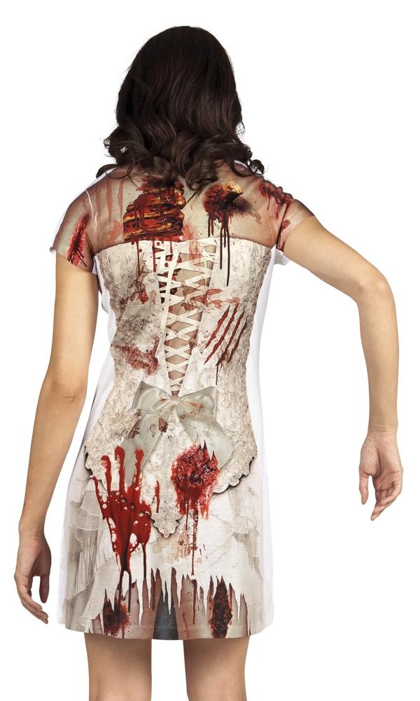 Jurkje Fotoprint Zombie Bruid Dames