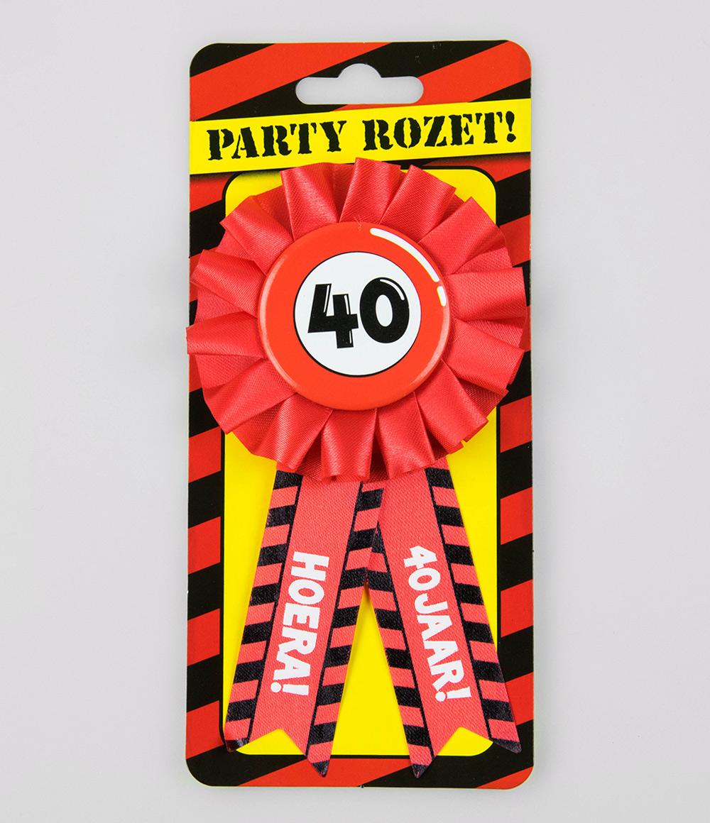 Party Rozet 40 jaar Verkeersbord