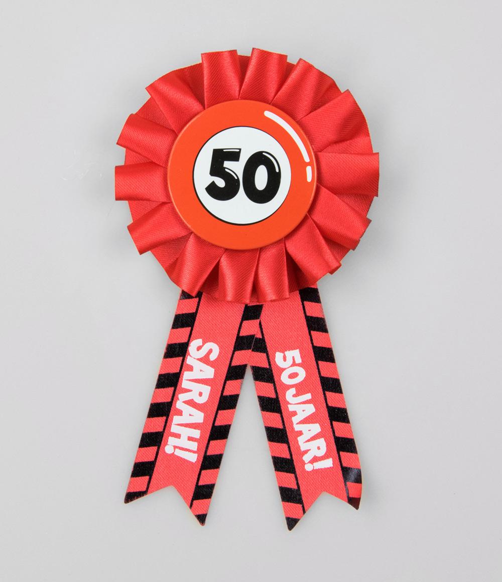 Party Rozet 50 jaar Sarah Verkeersbord