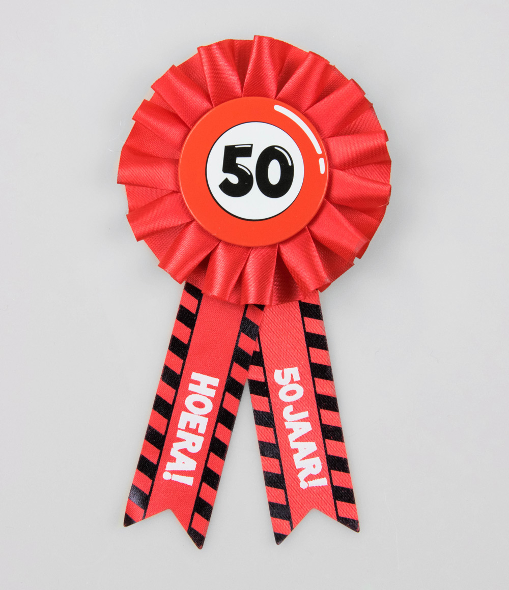 Party Rozet 50 jaar Verkeersbord