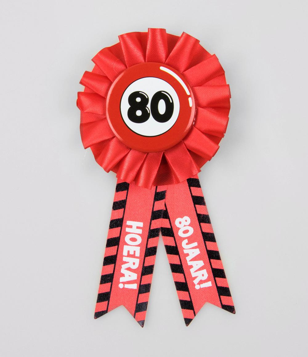 Party Rozet 80 jaar Verkeersbord
