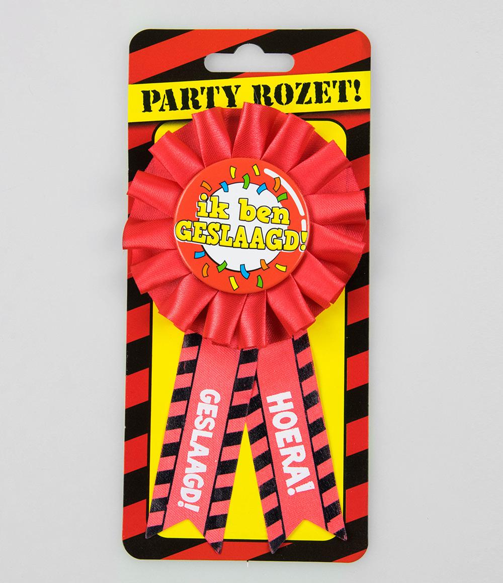 Party Rozet Geslaagd Verkeersbord