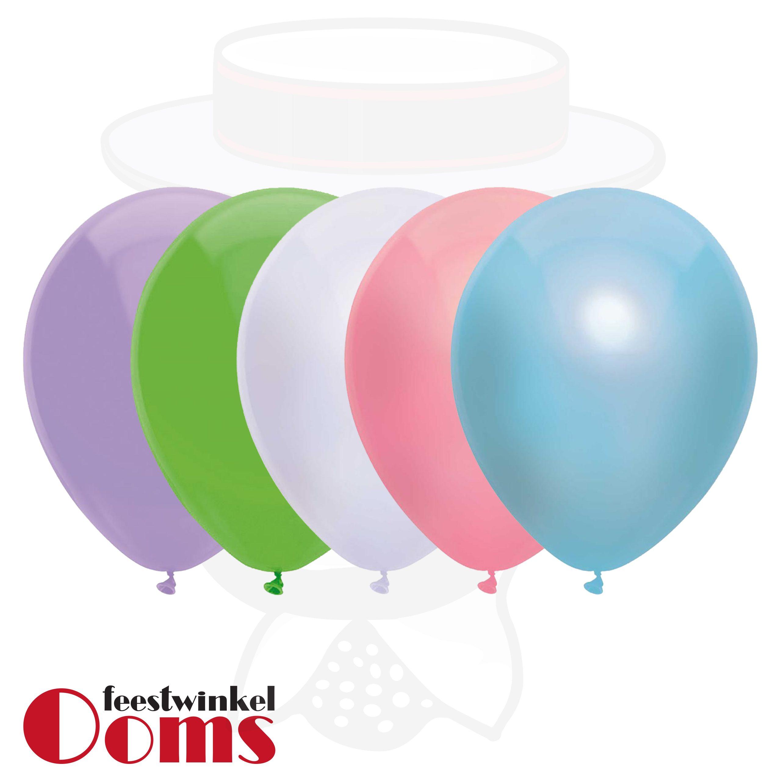 """25st Pastel Ballonnen Eenhoorn 12"""""""