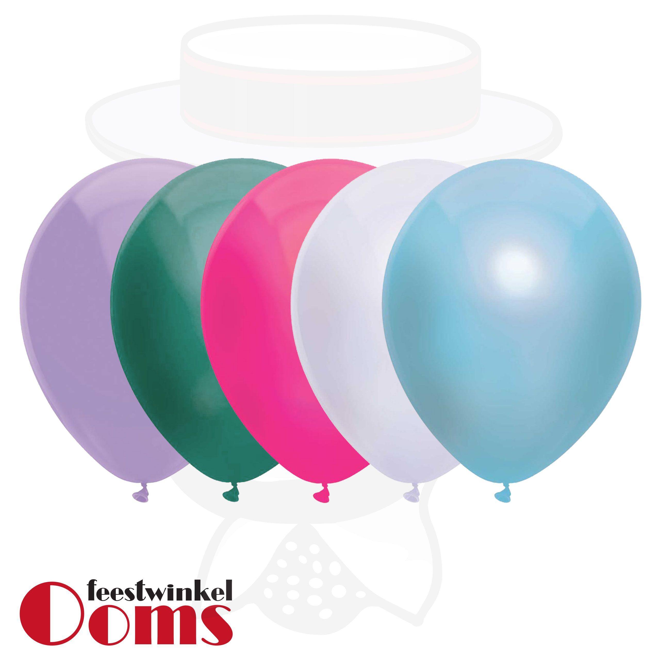 """25st Pastel Ballonnen Frozen 12"""""""