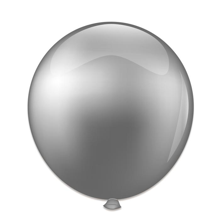 Reuze Ballon 60cm Pearl Zilver