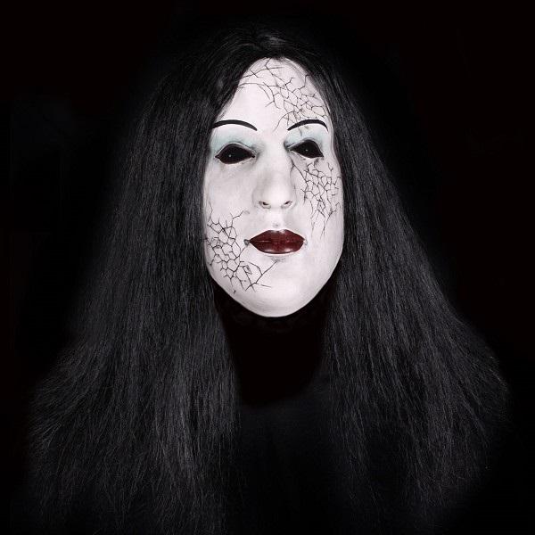 Rubber Masker Heks met Zwart Haar