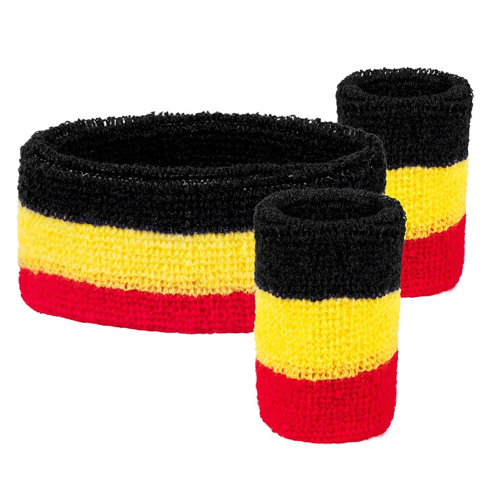 Set Zweetbandjes België 3stuks