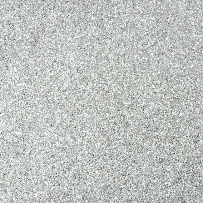 6m Vlaggenlijn Glitter Dubbelzijdig Zilver Brandv.