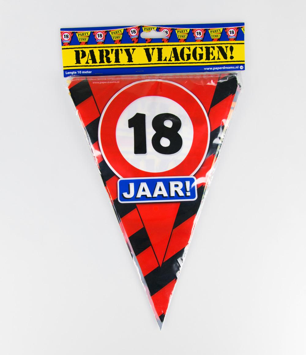 10m Vlaggenlijn Verkeersbord 18 jaar
