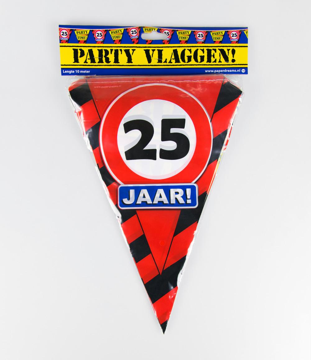 10m Vlaggenlijn Verkeersbord 25 jaar
