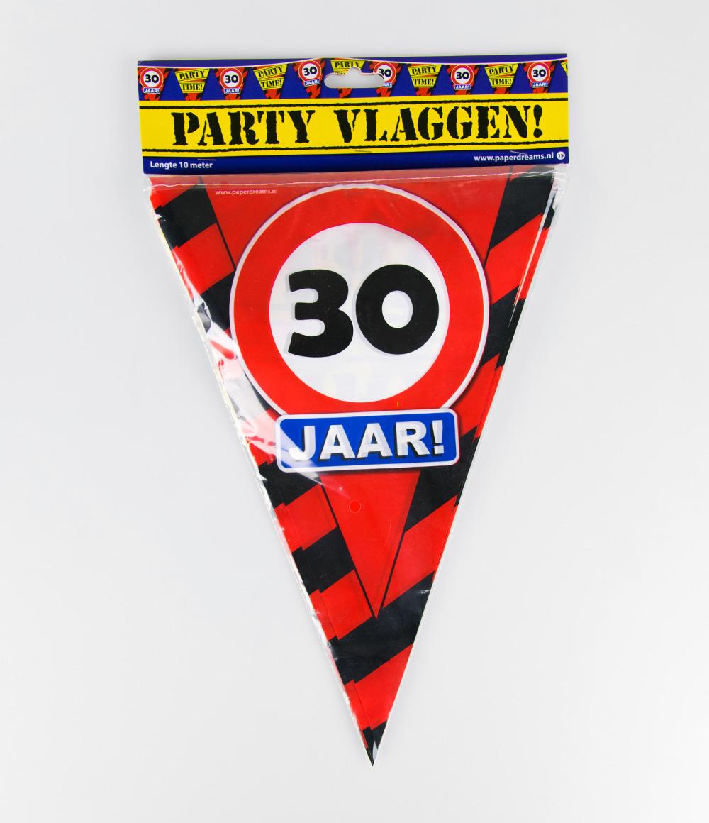 10m Vlaggenlijn Verkeersbord 30 jaar