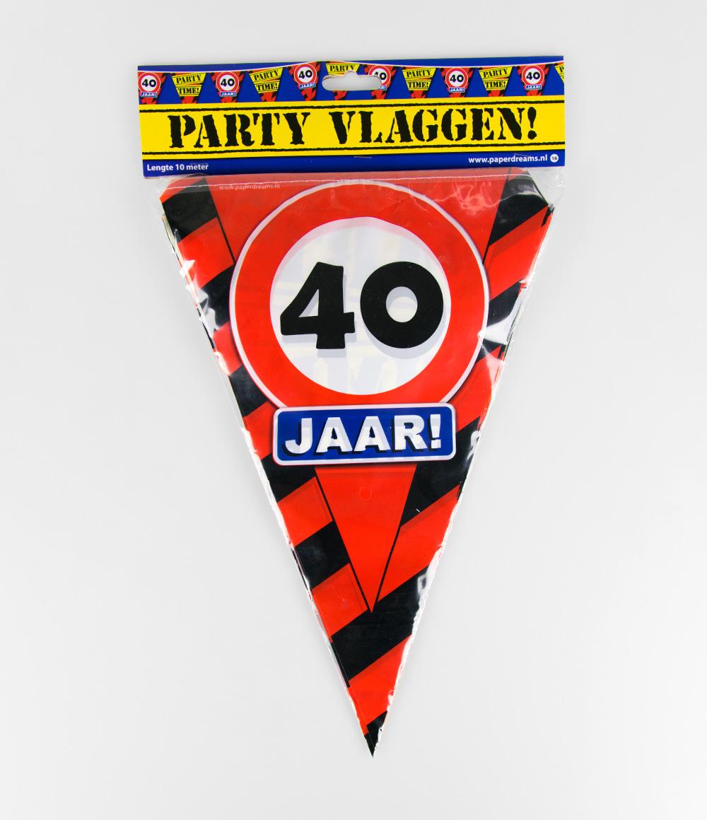 10m Vlaggenlijn Verkeersbord 40 jaar