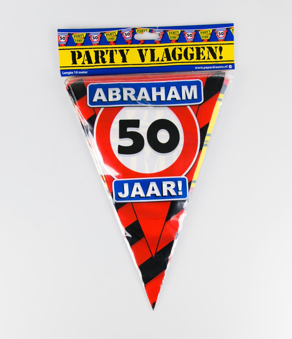 10m Vlaggenlijn Verkeersbord 50 Abraham
