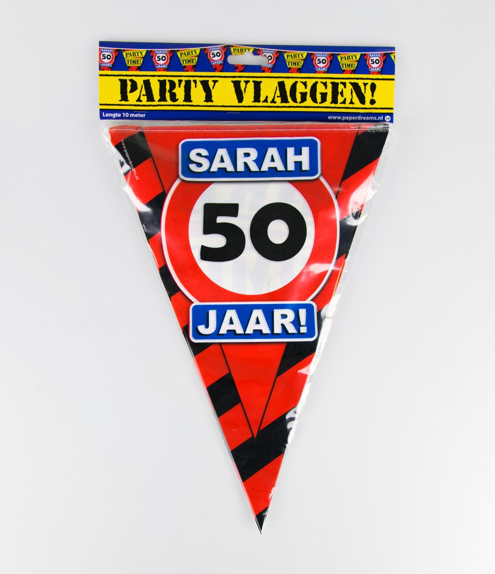 10m Vlaggenlijn Verkeersbord 50 Sarah