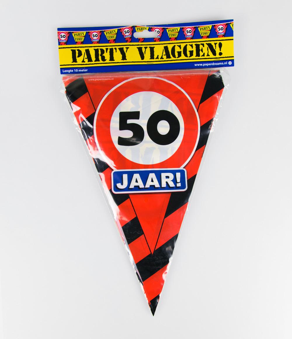 10m Vlaggenlijn Verkeersbord 50 jaar