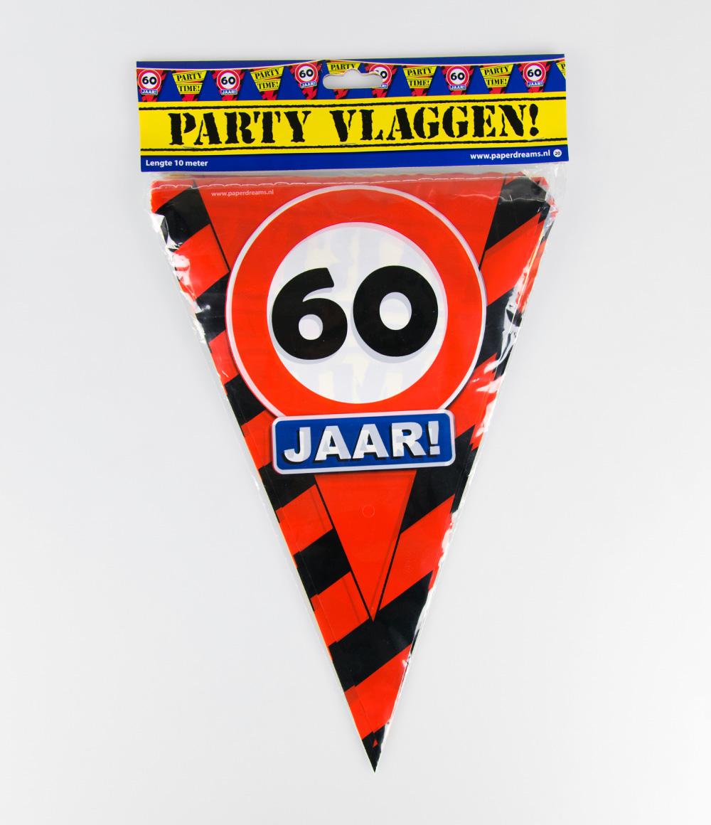 10m Vlaggenlijn Verkeersbord 60 jaar