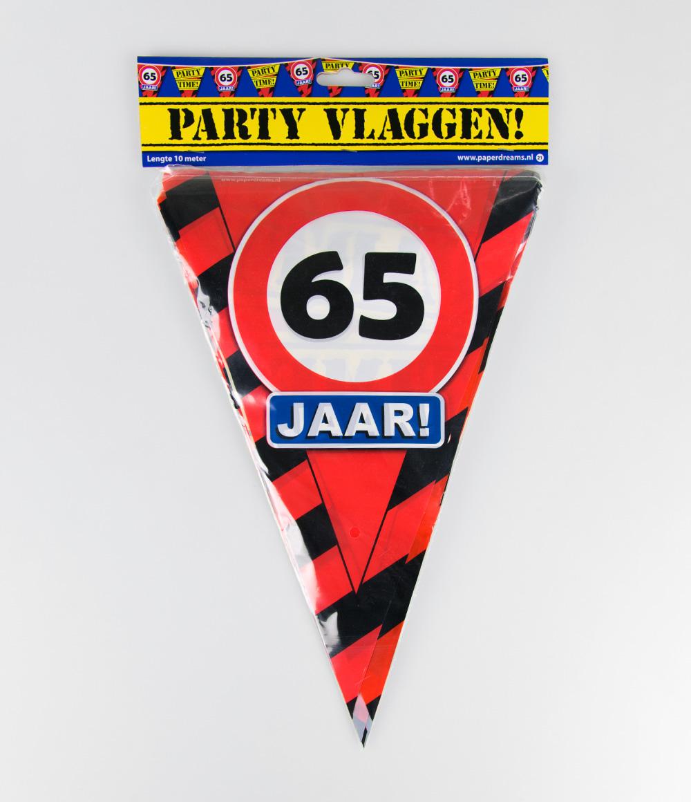 10m Vlaggenlijn Verkeersbord 65 jaar