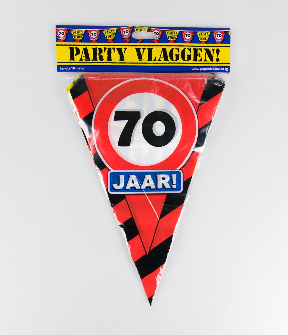10m Vlaggenlijn Verkeersbord 70 jaar