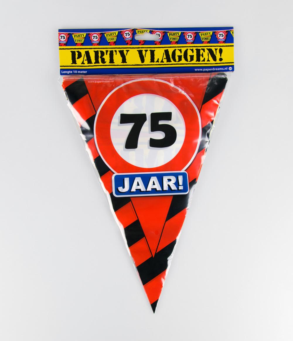 10m Vlaggenlijn Verkeersbord 75 jaar